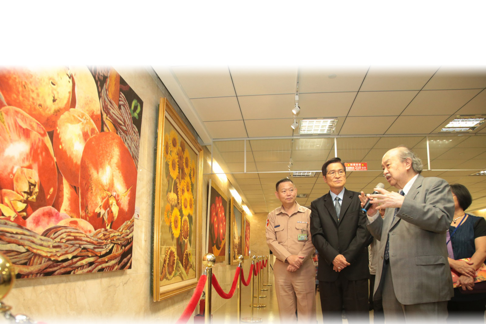 國防部博愛藝廊「顧重光的繪畫世界」畫展開幕