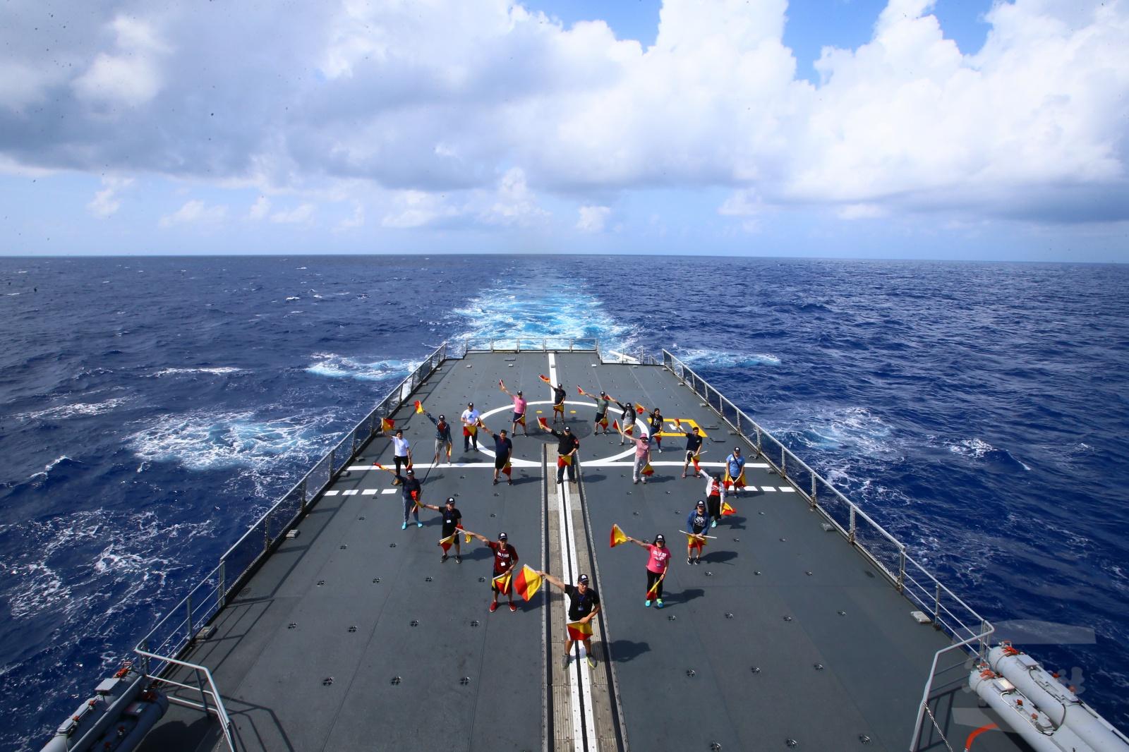 第3梯次「全民國防南沙研習營」海上生活體驗