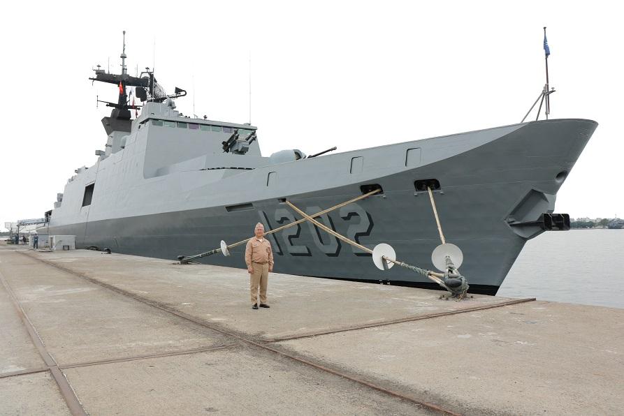 圖:常繼道軍旅生涯四十餘年,以身為海軍一員為榮。