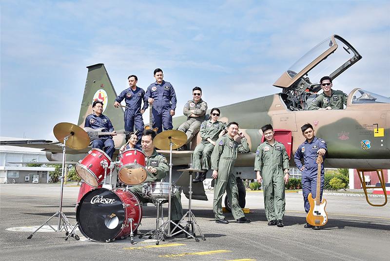 圖:志航基地的「虎團」樂隊是臺東地區人才招募、臺東縣路跑、晚會活動表演的常客。